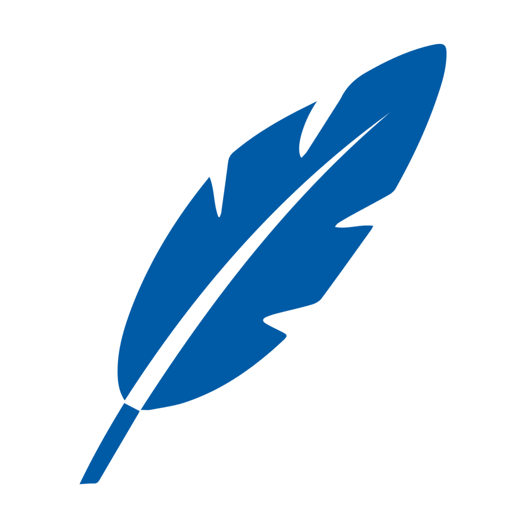 Blue Feather Icon