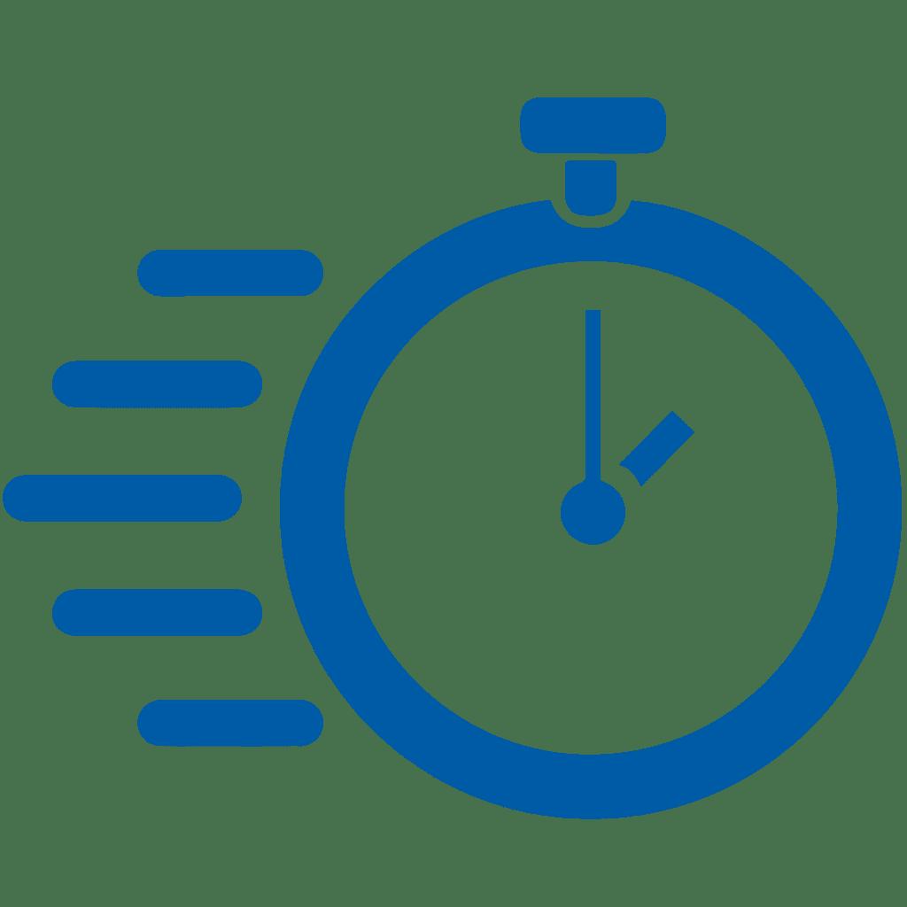 Blue Speed Icon