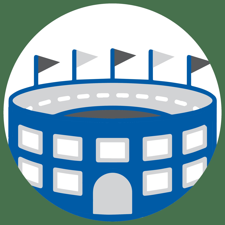 sports arena icon